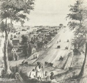 picture of collins st in melbourne city from 19th century