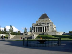 picture of the shrine of remembrance