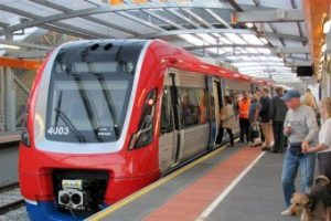 picture of train at station in adelaide