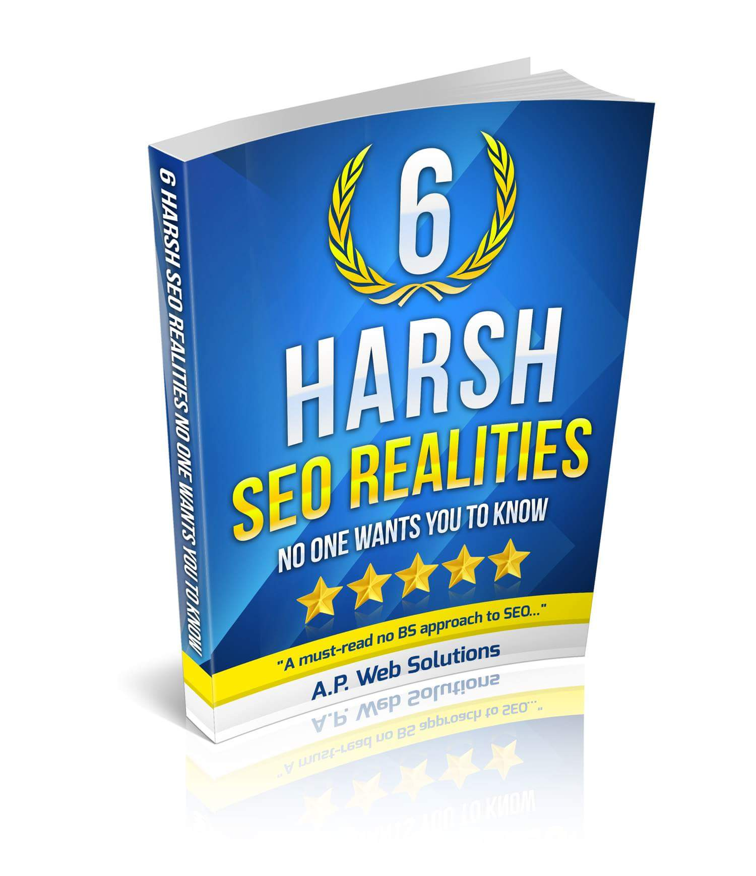 6 Harsh realities of SEO ebook by A.P. Web Solutions