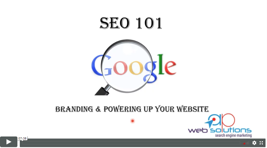 seo 101 video tutorial on branding and powering up your website, link building