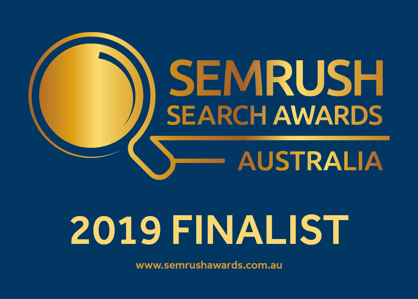 SEMrush Awards 2019 - Finalist Badge Blue